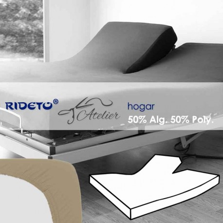Fitted sheet articulated bed 50% cot. 50% pol. piedra