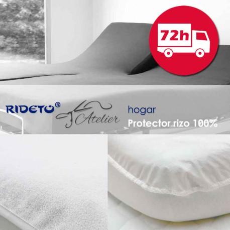 Servicio 72 h Protector impermeable Rizo 80% Algodón colchón Gemelo