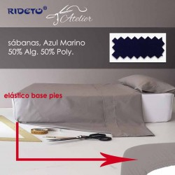 Sábana litera camión, cama litera 50% Alg. 50% Pol. Azul Marino