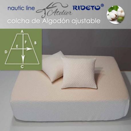 Deluxe Matratzendecke mit Gummizug für Schiffmatratze Trapez Form Cuadros Natur
