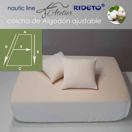 Colcha ajustable Deluxe  Jacquard Algodón, camarote Medio Trapecio rect. dcho.