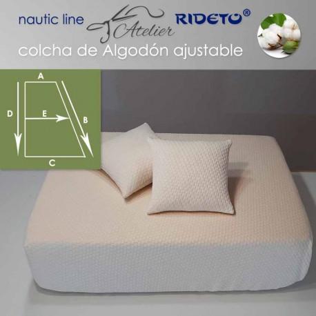 Colcha ajustable Deluxe  Jacquard Algodón, camarote Medio Trapecio rect. izq.