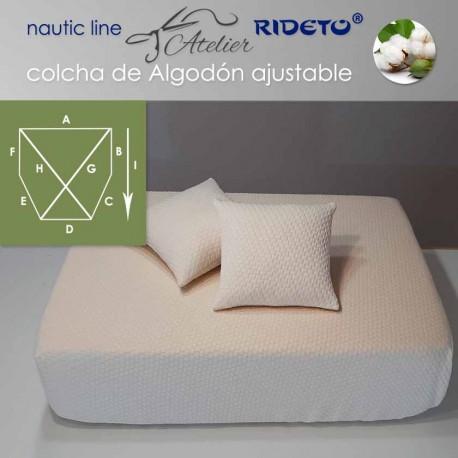 Colcha ajustable Deluxe  Jacquard Algodón, camarote Esquinas inclinadas