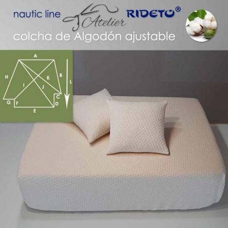 Deluxe Matratzendecke mit Gummizug für Schiffmatratze inv. Ecken Form Cuadros Natur