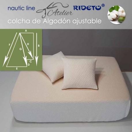 Colcha ajustable Deluxe  Jacquard Algodón, camarote medio Trapecio ang. der. inv.