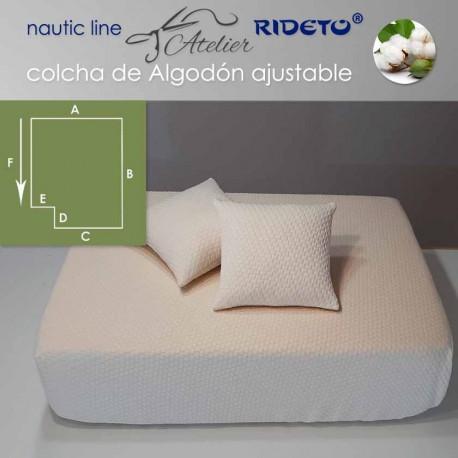 Colcha ajustable Deluxe  Jacquard Algodón, camarote rect. esq. izq. inv.