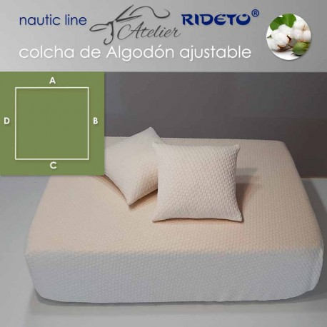 Colcha ajustable Deluxe  Jacquard Algodón, camarote rect. esq. dcho. inv.