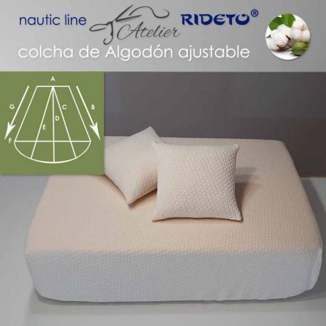 Colcha ajustable Deluxe  Jacquard, camarote Trapecio Isósc. redond.