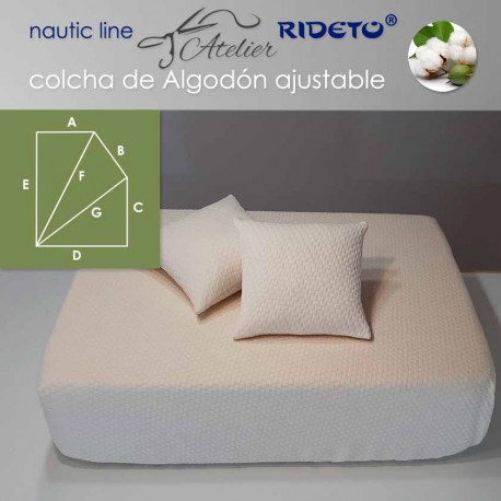 Colcha ajustable Deluxe  Jacquard Algodón, camarote Rect. chaf. dcho.