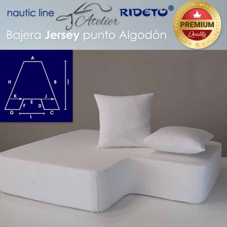 Fitted sheet fabric Cotton Jersey for boat matress Trapezoid Isosceles inv.