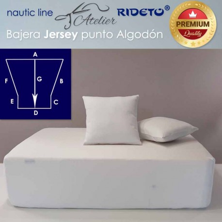 Fitted sheet fabric cotton Jersey for boat matress Trapez. Isosc. streight