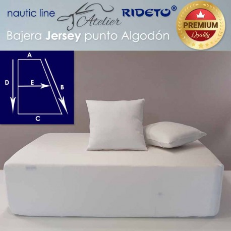 Fitted sheet fabric Cotton Jersey for ship matress rectangular Trapeze I