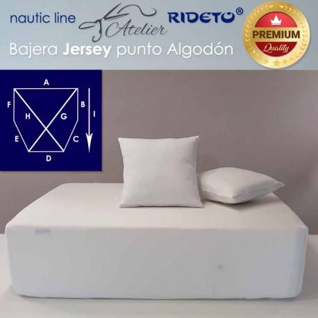 Sheet adjustable fabric Cotton Jersey for boat matress shape cut corners