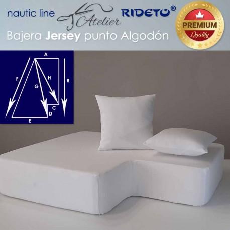 Sheet adjustable fabric Cotton Jersey for ship matress shape Trapeze inv.corner