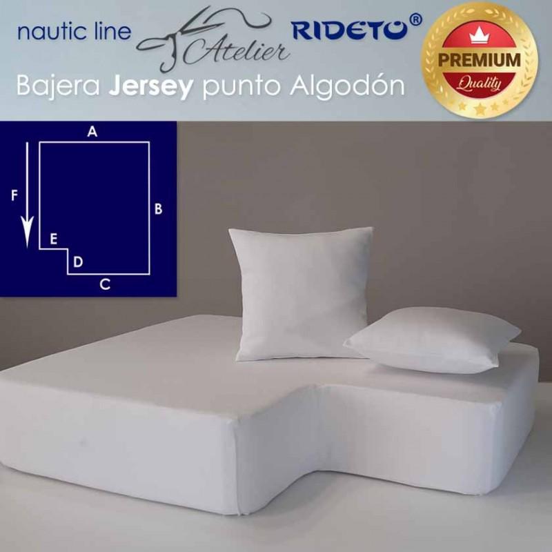 Bajera ajustable Punto Algodón, camarote rectang. esq. inv. izq.
