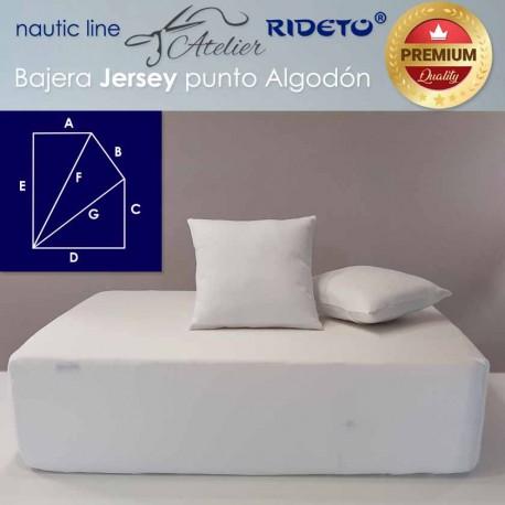 Spannbetttuch aus Jersey, Schiffmatratze mit rechteck-Form E rechts