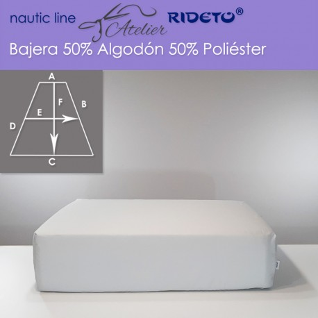 Boat Fitted sheet made of Poly-Cotton fabric, V-Berth shape
