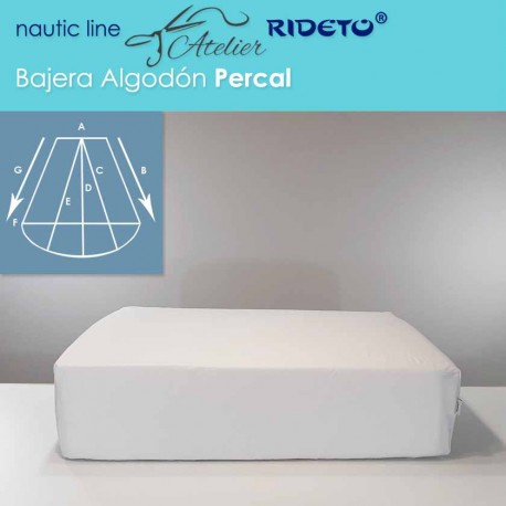 Fitted sheet fabric Cotton Jersey for boat matress Trapezoid Isosceles rounded