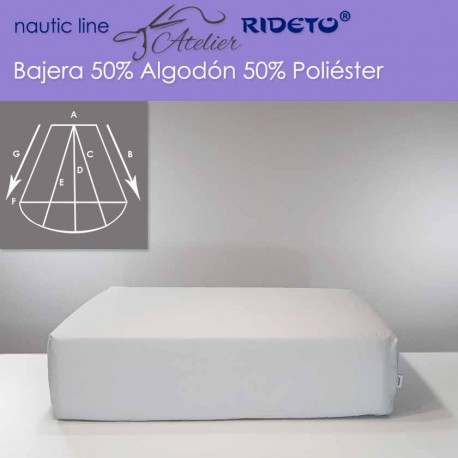 Fitted sheet fabric 50/50 cott-poly for boat matress Trapezoid Isosceles rounded