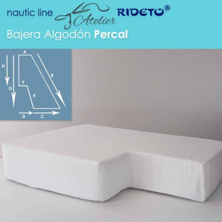 Fitted sheet percal fabric cotton  for boat mattress half-Trapeze bow cabin