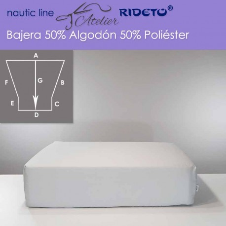 Fitted sheet fabric 50/50 cott-poly for boat matress Trapezoid Isosceles streight