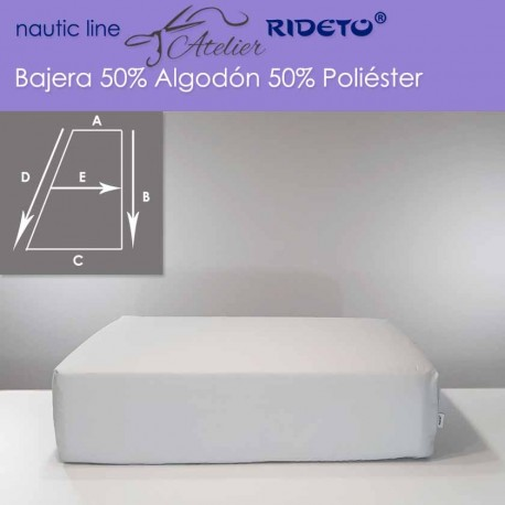 Fitted sheet fabric 50/50 Cot-Poly for boat mattress rect. Trapezoid D