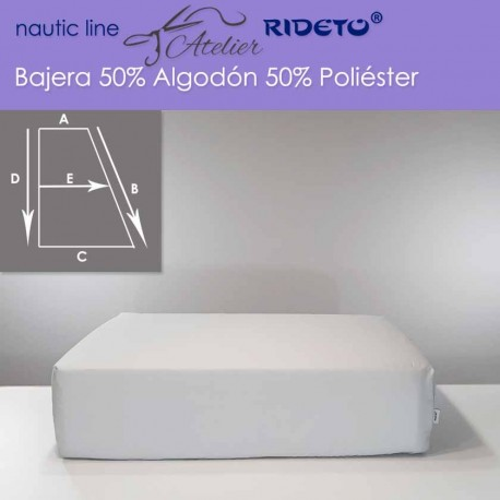 Fitted sheet fabric 50/50 Cot-Poly for boat mattress rect. Trapezoid L