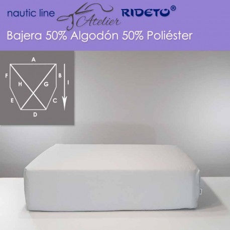 Fitted sheet fabric 50/50 Cot-Poly for boat mattress shape cut corners