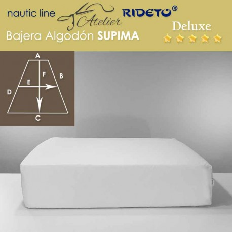 Boat Fitted sheet made of  Supima coton fabric, V-Berth shape