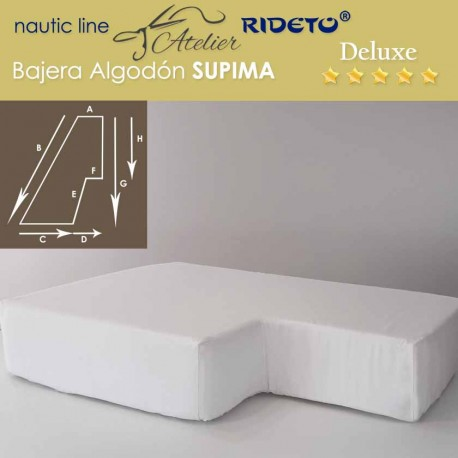 Boat Fitted sheet Deluxe Supima fabric,half V-Berth shape