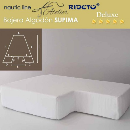 Fitted sheet Deluxe Supima fabric for boat matress Trapezoid Isosceles inv.