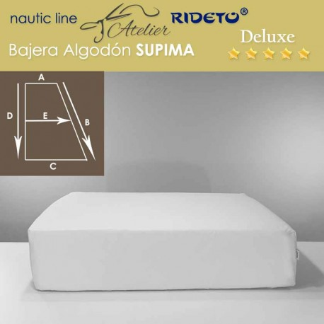 Fitted sheet Deluxe Supima fabric for ship matress rectangular Trapeze I