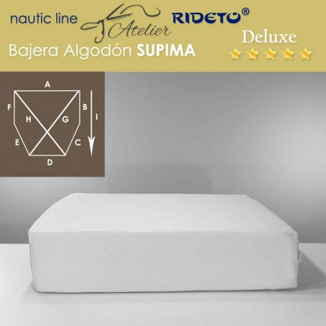 Sheet  for boat matress Deluxe Supima cotton shape cut corners