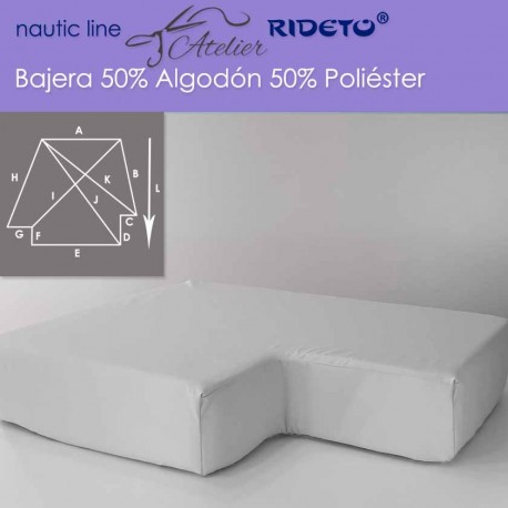 Fitted sheet fabric 50/50 Cot-Poly for boat mattress king Size inv.corner