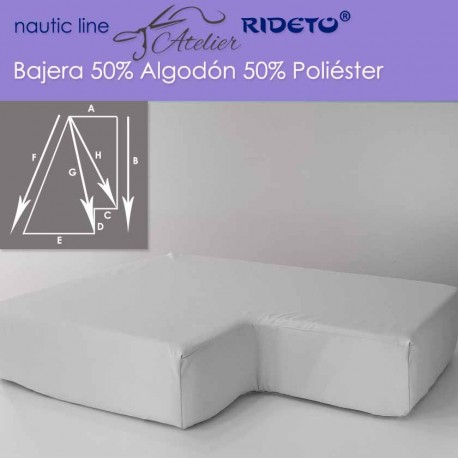 Fitted sheet fabric 50/50 Cot-Poly for boat mattress Trapeze inv.corner