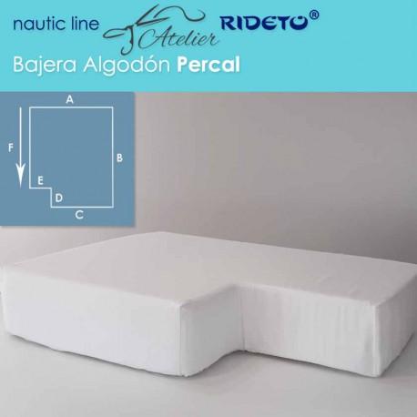 Bajera ajustable Algodón percal, camarote rectang. esq. inv. izq.