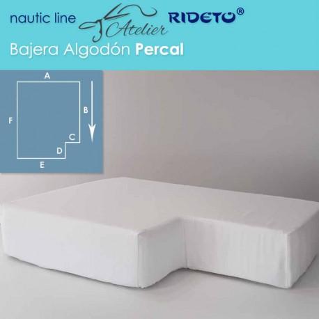 Bajera ajustable Algodón percal, camarote rectang. esq. inv. dcho.