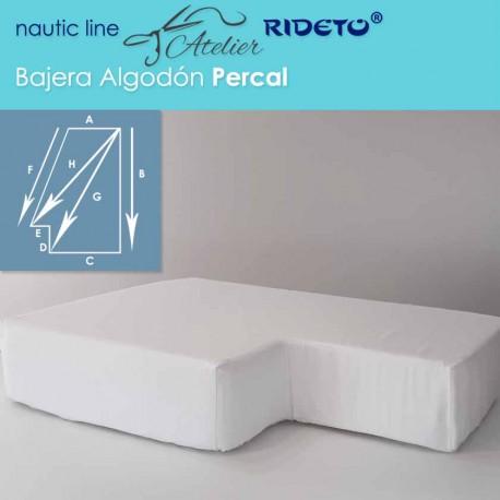 Bajera ajustable Algodón Percal, forma Esq. izq. inver.