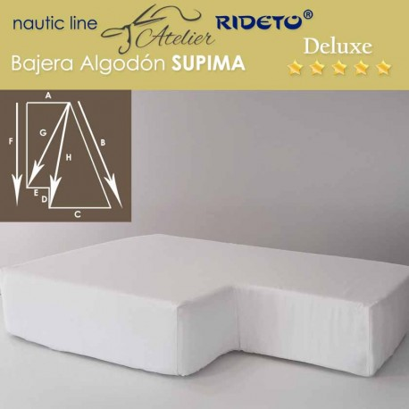 Sheet for boat Supima Deluxe fabric Cotton Jersey for ship matress shape Trapeze inv.corner