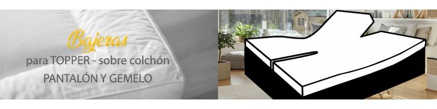 Spannbetttuch Split TOPPER für elektrische Betten