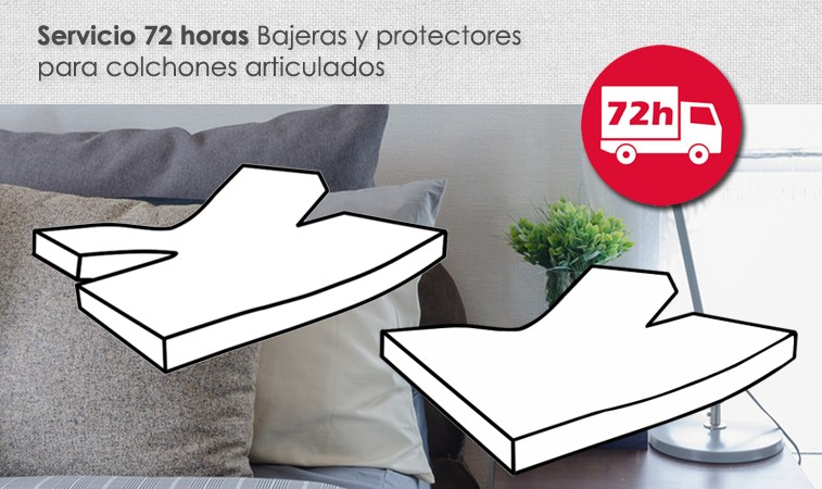 Bajera cama articulada servicio 72 horas